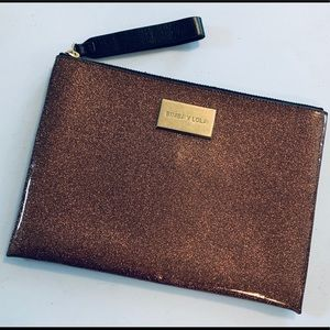 BIMBA Y LOLA Bags - BIMBA Y LOLA Clutch purse faux copper metallic